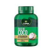 Óleo de Coco Extravirgem - 60 Cápsulas Softgel (1000mg)  - Copra