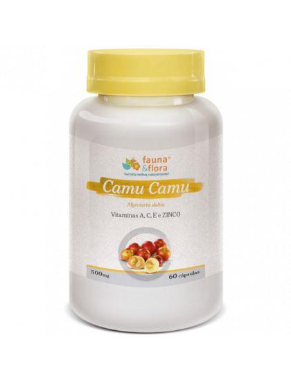 Camu Camu Com Vitamina A, C E e Zinco (500mg) - 60 Cápsulas - Fauna & Flora