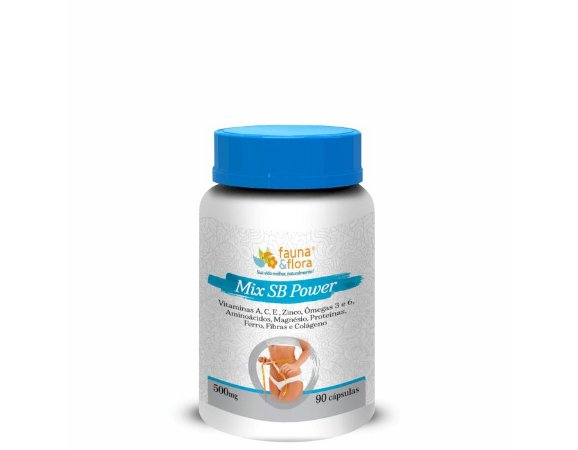 Mix SB Power Com Vitaminas  (500mg) - 90 Cápsulas - Fauna & Flora