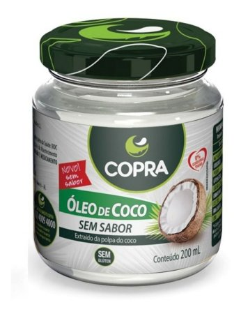 Óleo de Coco - Sem Sabor - 200ml - Copra