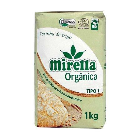 Farinha de Trigo Orgânica Tipo 1 - 1kg - Mirela