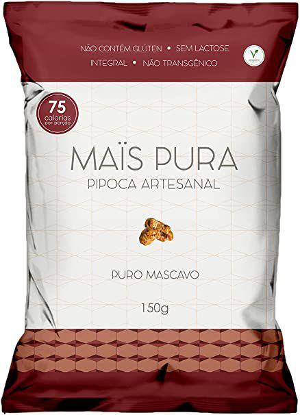Pipoca Artesanal Sabor Puro Mascavo - 75g - Mais Pura
