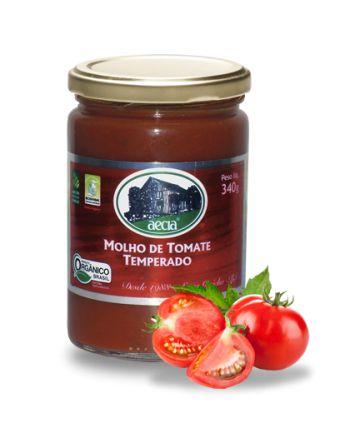 Molho de Tomate Temperado Orgânico - 585g - Aecía