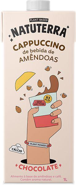 Cappuccino de Bebida de Amêndoas - 1L - Natuterra