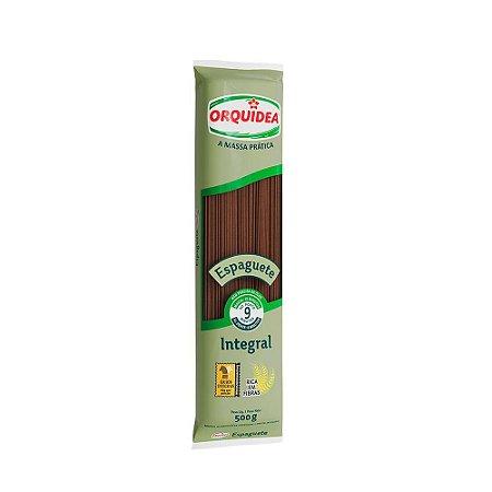 Macarrão Integral Espaguete - 500g - Orquidea
