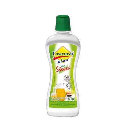 Adoçante Dietético Liquido Plus com Stevia - 80 ml - Lowçucar