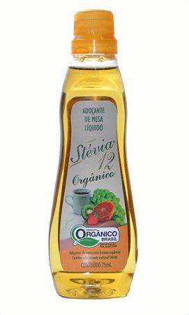 Adoçante de Mesa Liquido Calda de Agave azul e Stevia - 75 ml - Stevia 12 Orgânico