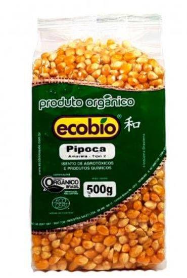Milho de Pipoca Orgânico - 500g - Ecobio