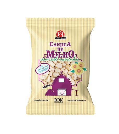 Canjica de Milho Com Sal Marinho - 50g - Okoshi
