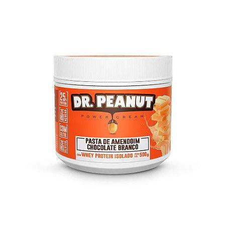 Pasta de Amendoim Chocolate Branco Com Whey Protein - 500g - Dr. Peanut