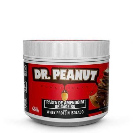 Pasta de Amendoim Brigadeiro Com Whey Protein - 500g - Dr. Peanut