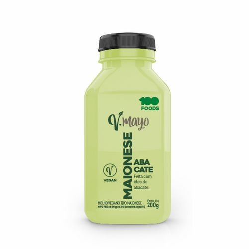 Molho Vegano Tipo Maionese de Abacate - 200g - 100Foods