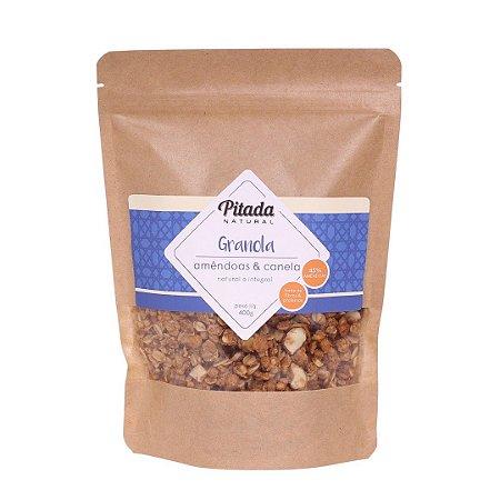 Granola Amêndoa e Canela 45% Amêndoas - 400g - Pitada Natural
