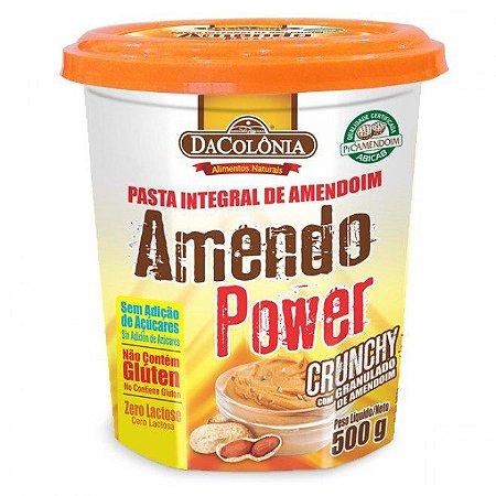 Pasta de Amendoim Amendo Power Com Granulado de Amendoim - 500g - DaColônia