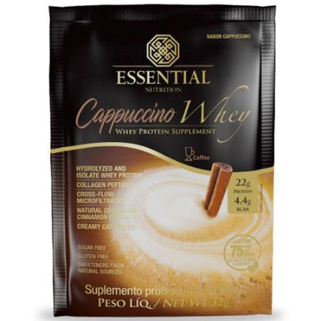 Cappuccino Whey Sachê - 32g - Essential Nutriton