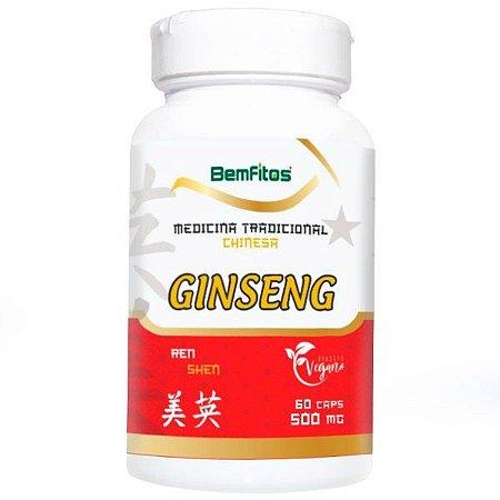 Ginseng - 60 Cápsulas (500mg) - Bemfitos