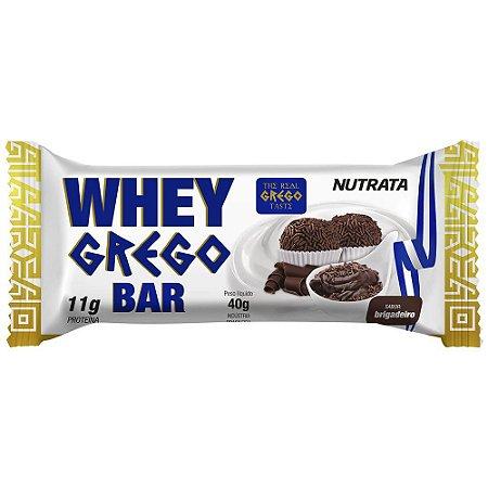 Barra Protéica Whey Grego Bar Sabor Brigadeiro - 40g - Nutrata