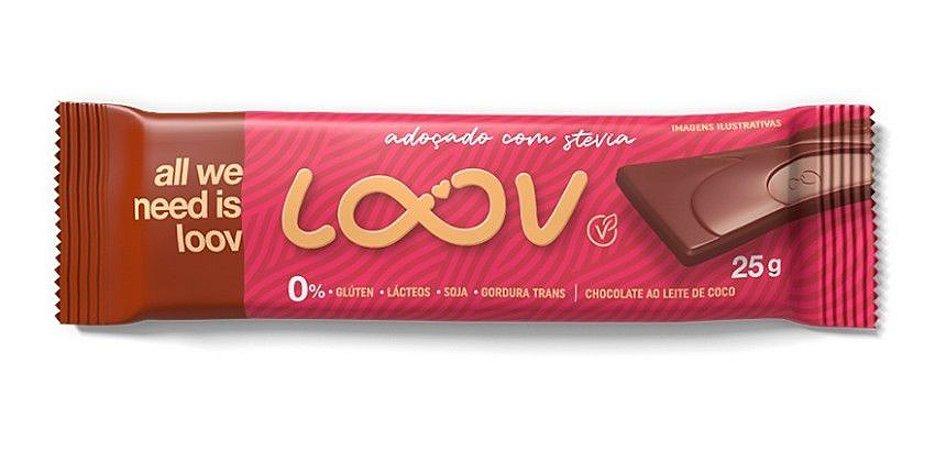 Chocolate ao Leite de Coco Loov - 25g - Chocolife