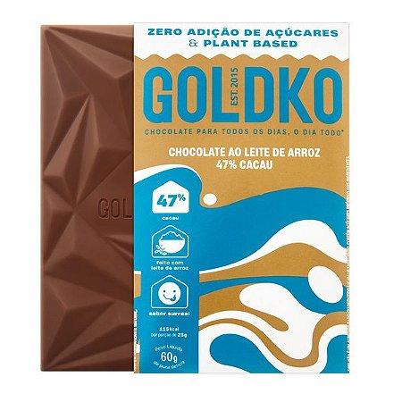 Chocolate ao Leite de Arroz 47% Cacau - 60g - GoldKo
