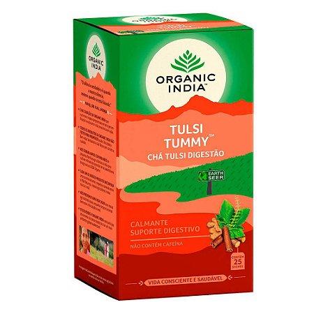 Chá Tulsi Tummy Digestão - 25 sachês - Organic India