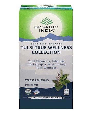 Chá Tulsi Wellness Collection - 25 sachês - Organic India