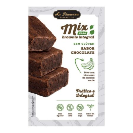 Mix Para Brownie Integral Sabor Chocolate Sem Glúten - 250g - La Pianezza