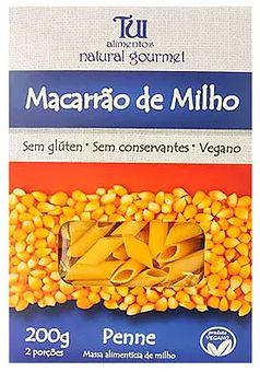 Massa de Macarrão de Milho Penne - 200g - Tui Alimentos