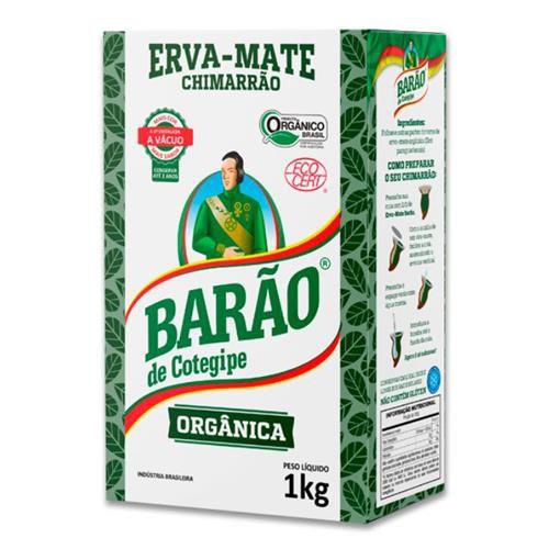 Erva-Mate Chimarrão Orgânica Sem adição de Açúcar - 1Kg - Barão de Cotegipe