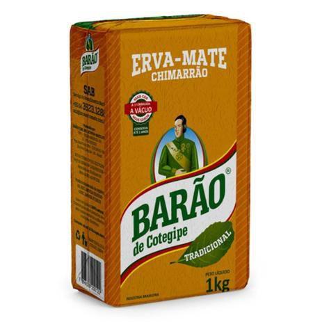Erva Mate Chimarrão - 1kg - Barão de Contegipe