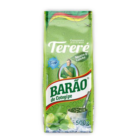 Erva Mate Tereré Sabor Menta e Limão - 500g - Barão de Cotegipe