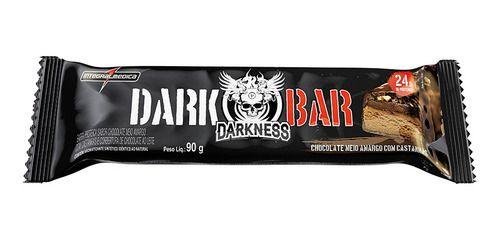 Barra de Proteína Dark Bar Chocolate Meio Amargo com Castanhas - 90g - Darkness