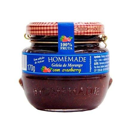 Geleia de Morango com Cranberry - 170g - Homemade
