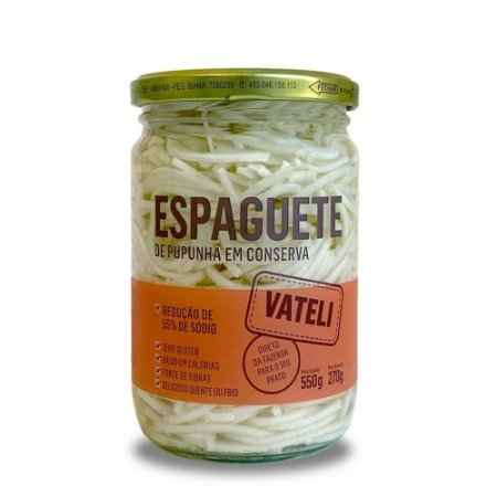 Espaguete de Pupunha em Conserva - 550g - Vateli