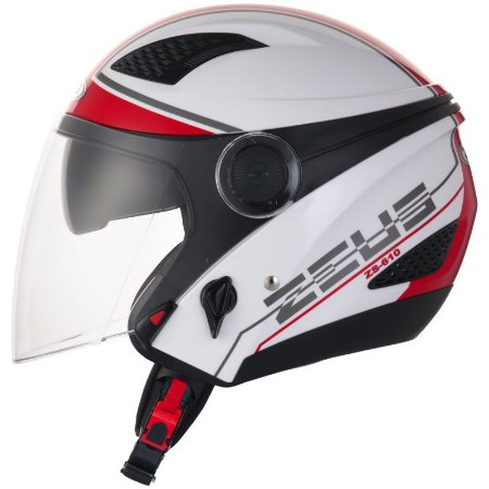 Capacete Zeus 610 NEW CITY WHITE RED