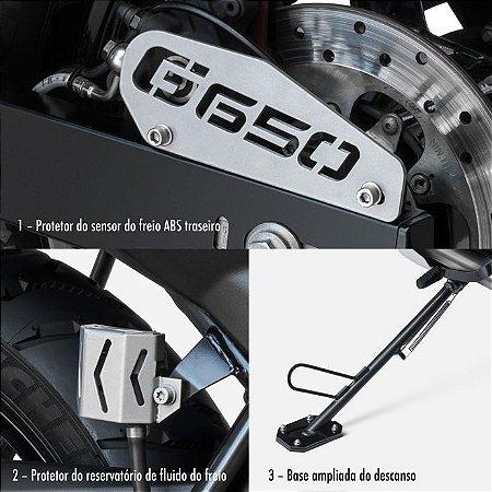 Kit protetores do Freio Traseiro e Base Ampliada BMW 650 GS