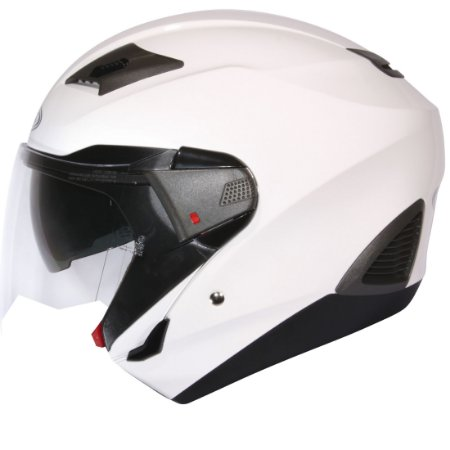 Capacete Zeus 611 PEARL WHITE LOGO 3D