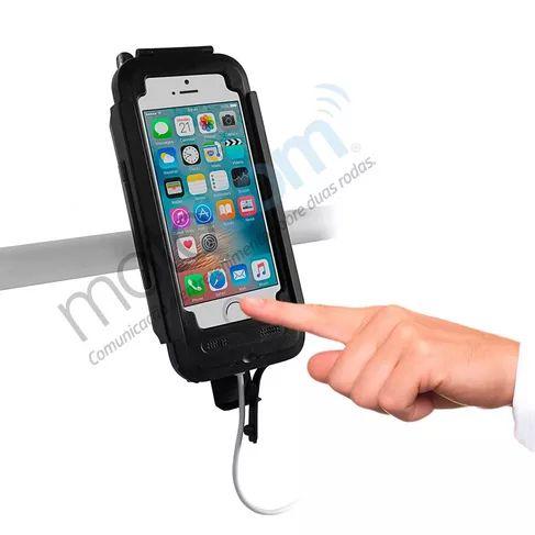 Suporte Smartphone Celular Motocom Case TOP Q iPhone 6 e 6s Preto