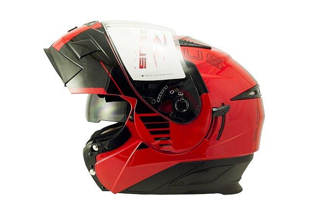 Capacete Zeus 3020 SOLID RED AB12 CRUISER BLK