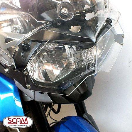 Protetor de Farol Triumph TIGER 800 em Policarbonato SCAM