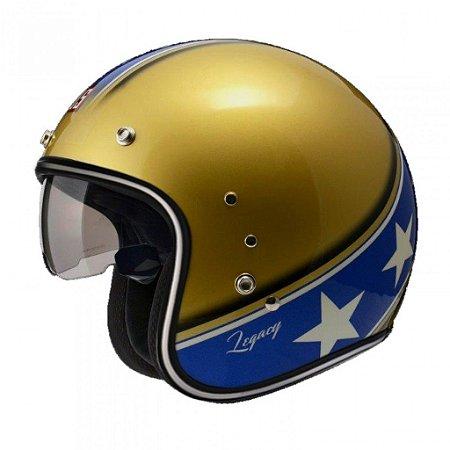 Capacete Zeus 380FA Legacy Dourado e Azul