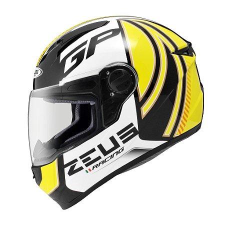 Capacete Zeus 811 EVO GP RACING Preto e Amarelo