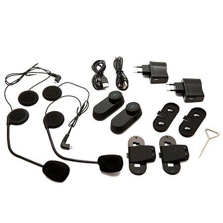 Intercomunicador Bluetooth para Capacetes MotoCom Prime (2 Peças)