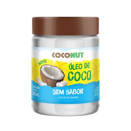 Óleo de Coco Sem Sabor CocoNut 200mL