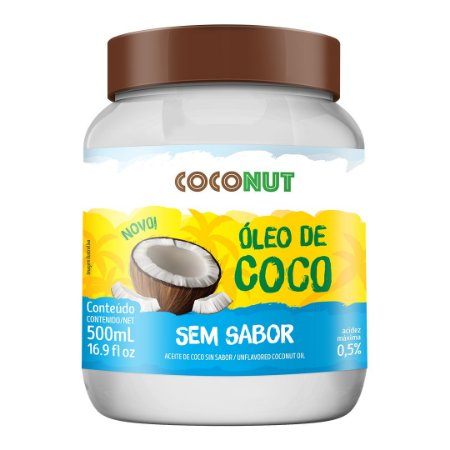 Óleo de Coco Sem Sabor CocoNut 500mL