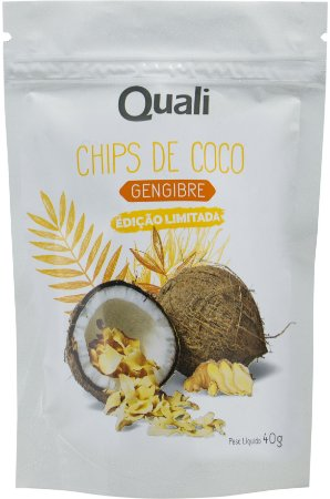 Chips De Coco Gengibre Quali 40g