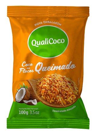Coco Ralado Queimado 100g QualiCoco
