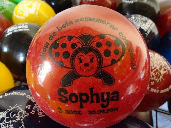 79a22ff834 Kit com 50 bolas de 45cm personalizadas - Bola Vinil
