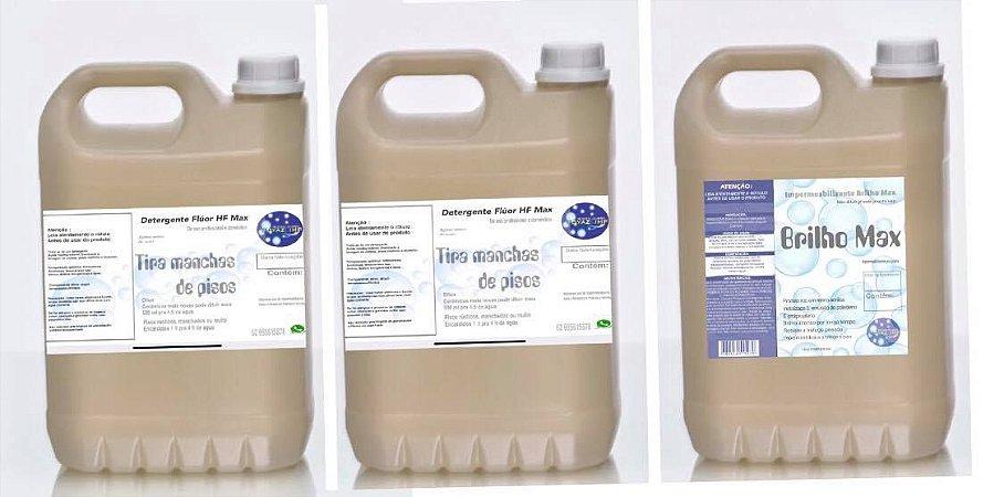 10 Litros De Detergente Removedor Concentrado E 5 Litros De Impermeabilizante goyazlimp