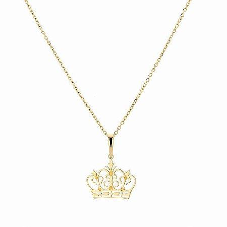 Pingente Coroa em ouro 18K