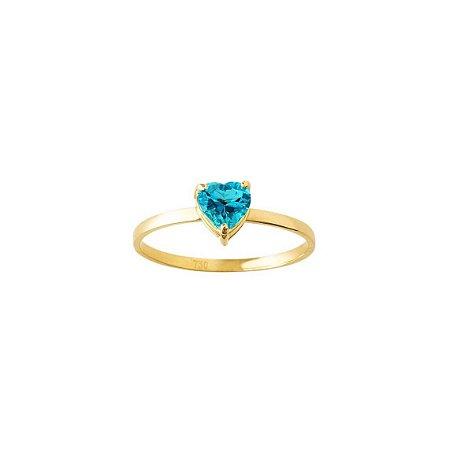 Anel coleção Boreal Topázio azul